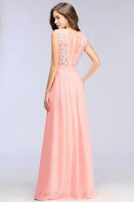 Pink Long Sleeveless Sheer-Back Prom Dress UK Sexy Lace Chiffon Bridesmaid Dress UK_8