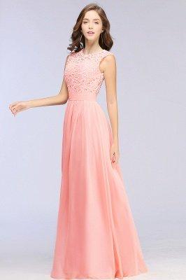 Pink Long Sleeveless Sheer-Back Prom Dress UK Sexy Lace Chiffon Bridesmaid Dress UK_13