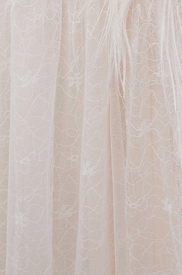 NANCY | A-line Sleeveless Floor Length Lace Ivory Wedding Dresses UK_12