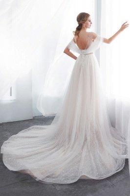 NANCY   A-line Sleeveless Floor Length Lace Ivory Wedding Dresses UK_8