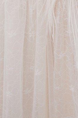 NANCY   A-line Sleeveless Floor Length Lace Ivory Wedding Dresses UK_12