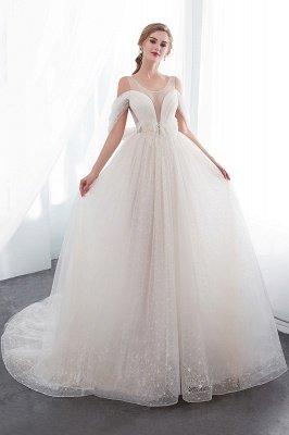 NANCY   A-line Sleeveless Floor Length Lace Ivory Wedding Dresses UK_1
