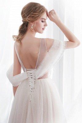 NANCY   A-line Sleeveless Floor Length Lace Ivory Wedding Dresses UK_7