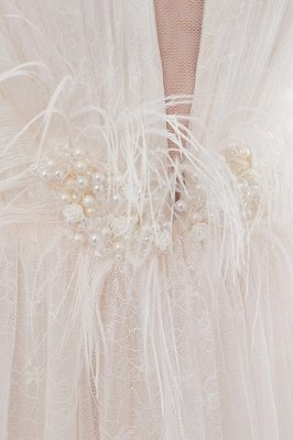 NANCY   A-line Sleeveless Floor Length Lace Ivory Wedding Dresses UK_13