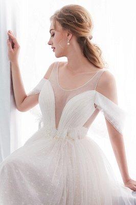 NANCY   A-line Sleeveless Floor Length Lace Ivory Wedding Dresses UK_11