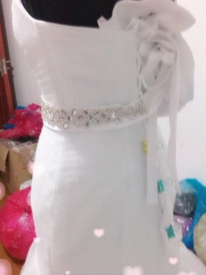 Sexy Mermaid Tulle Cheap Floor-Length Beads Sleeveless Sweetheart Wedding Dresses UK_4