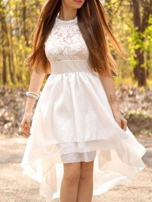 Sleeveless Ruched Halter  Asymmetrical A-Line Wedding Dresses UK_1