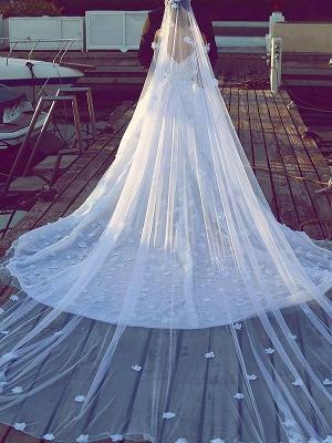 V-neck  Ball Gown Sleeveless Satin Wedding Dresses UK_3