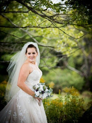 Court Train Sleeveless A-Line Tulle Spaghetti Straps Wedding Dresses UK_3