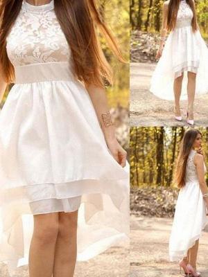 Sleeveless Ruched Halter  Asymmetrical A-Line Wedding Dresses UK_3