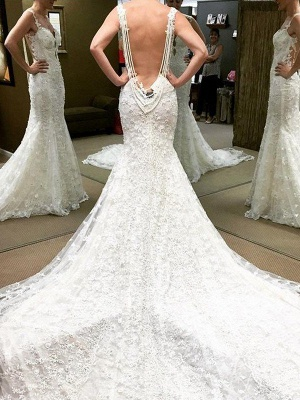 Lace Floor-Length Short Sleeves Ball Gown Off-the-Shoulder Wedding Dresses UK_1