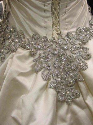 Cathedral Train Ruffles Ball Gown Sweetheart Taffeta Sleeveless Wedding Dresses UK_8