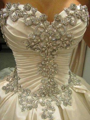Cathedral Train Ruffles Ball Gown Sweetheart Taffeta Sleeveless Wedding Dresses UK_6