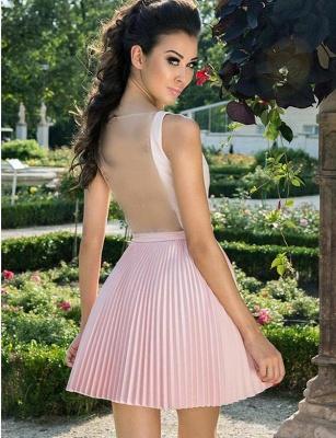 Fabulous A-Line V-Neck Sleeveless Straps Short length Prom Dress UK UK_4