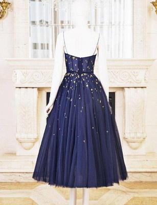 Charming A-Line Tulle Spaghetti Straps Short length Prom Dress UK UK_1