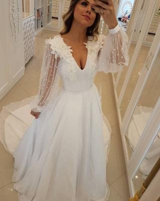 Modern Long Sleeves Beading Tulle A-Line Flower Prom Dress UK UK_1