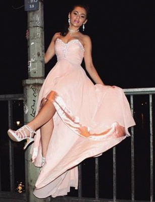 Charming Sleeveless Appliques A-Line Sweetheart asymmetric Prom Homecoming Dress UK_3