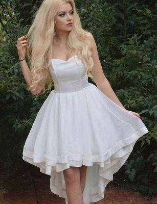 Sexy Sweetheart A-Line Sleeveless asymmetric Prom Dress UK UK_1