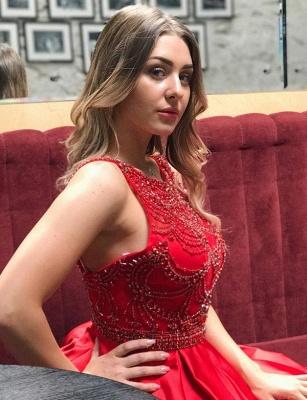Stunning Lace A-Line Beads Bateau Sleeveless Prom Dress UK UK_3