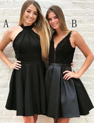 Stunning Halter V-Neck A-Line Appliques Mini length Prom Dress UK UK_1