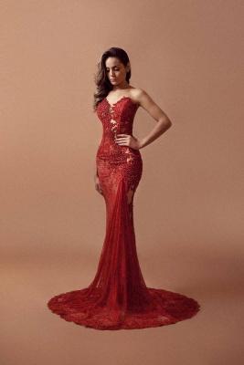 Red Lace Beading Prom Dress UKes UK Sleeveless Mermaid Elegant Evening Gowns_1