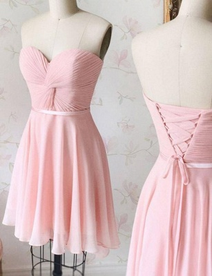 Luxury A-Line Lace Sweetheart Lace-up Short length Prom Dress UK UK_1