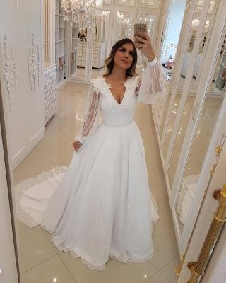 Modern Long Sleeves Beading Tulle A-Line Flower Prom Dress UK UK_3