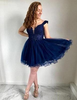 Modern Lace Straps Tulle A-Line Short length Prom Dress UK UK_1