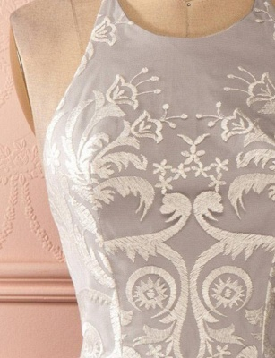 Gorgeous Halter Tulle A-Line Appliques Open Back Homecoming Dress UK_6