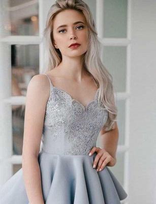 Stunning A-Line Appliques Spaghetti Straps Mini length Homecoming Dress UK_4
