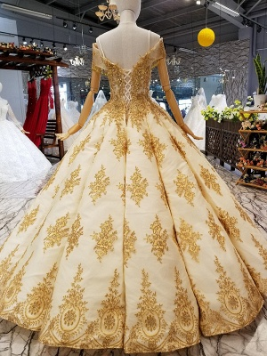 Sequins Spaghetti Straps Beads Sweep Train Ball Gown Prom Dress UK UK_3