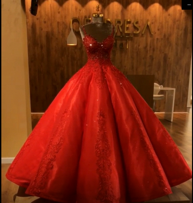 Ruby Straps Sleeveless Ball Gown Appliques Open Back Prom Dress UKes UK UK with Beading_4