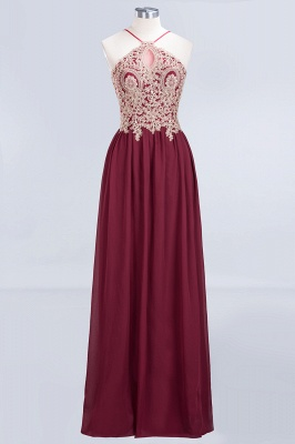 Sexy A-line Flowy Spaghetti-Straps Sleeveless Backless Floor-Length Bridesmaid Dress UK UK with Appliques_1
