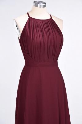Sexy A-line Flowy Jewel Sleeveless Floor-Length Bridesmaid Dress UK UK with Ruffles_5