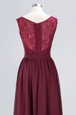 Sexy A-line Flowy Lace Alluring V-neck Sleeveless Floor-Length Bridesmaid Dress UK UK with Ruffles_6