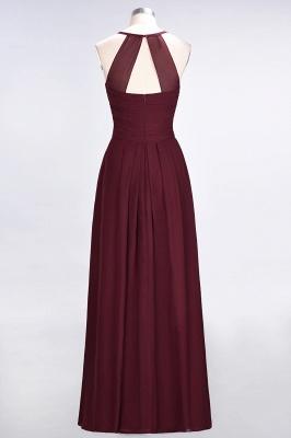 Sexy A-line Flowy Halter Alluring V-neck Sleeveless Floor-Length Bridesmaid Dress UK UK with Ruffles_3