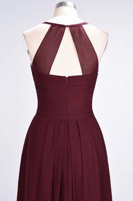Sexy A-line Flowy Halter Alluring V-neck Sleeveless Floor-Length Bridesmaid Dress UK UK with Ruffles_7