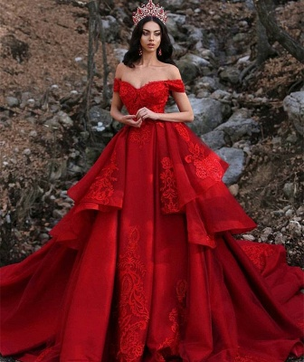 Luxury Appliques Off-the-Shoulder Sleeveless Prom Dress UK_3