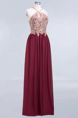 Sexy A-line Flowy Spaghetti-Straps Sleeveless Backless Floor-Length Bridesmaid Dress UK UK with Appliques_3