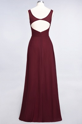 Sexy A-line Flowy Alluring V-neck Straps Sleeveless Ruffles Floor-Length Bridesmaid Dress UK UK with Open Back_3