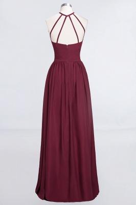 Sexy A-line Flowy Halter Sleeveless Floor-Length Bridesmaid Dress UK UK with Ruffles_2