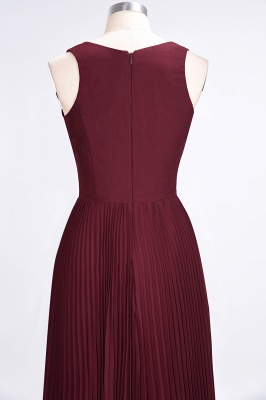Sexy A-line Satin Flowy Alluring V-neck Sleeveless Floor-Length Bridesmaid Dress UK UK with Ruffles_6