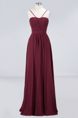 Sexy A-line Flowy Sweetheart Spaghetti-Straps Backless Floor-Length Bridesmaid Dress UK UK with Ruffles_1
