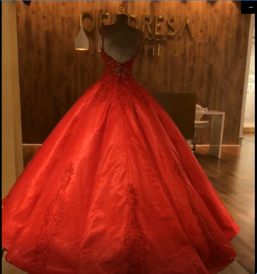 Ruby Straps Sleeveless Ball Gown Appliques Open Back Prom Dress UKes UK UK with Beading_5