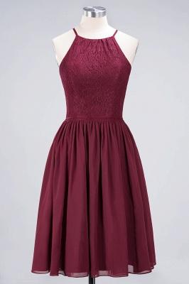 A-line Light Chiffon Lace Jewel Sleeveless Knee-Length Bridesmaid Dress UKes UK UK with Ruffles_1