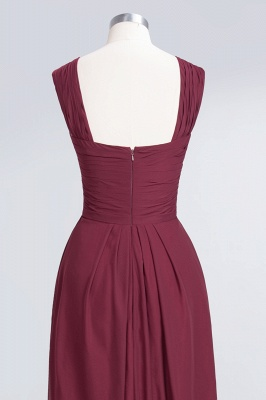 Sexy A-line Flowy Alluring V-neck Straps Sleeveless Floor-Length Bridesmaid Dress UK UK with Ruffles_6