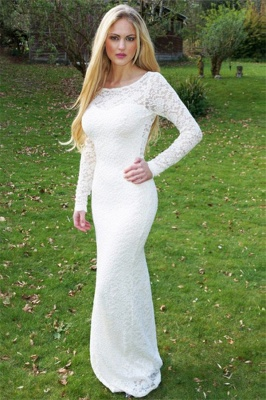Sexy Scoop Neck Long Sleeves Appliques Sweep Train Prom Dress UK UK_1