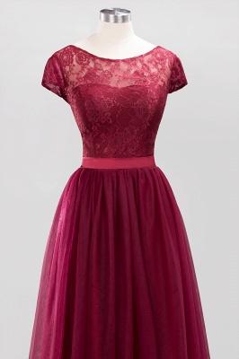 A-Line Light Chiffon Jewel Sleeveless Sweep Train Bridesmaid Dress UKes UK UK with Ruffles_4