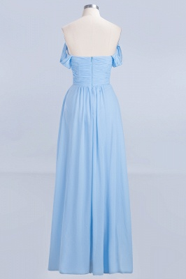 Sexy A-line Flowy Straps Sweetheart Sleeveless Floor-Length Bridesmaid Dress UK UK with Ruffles_2