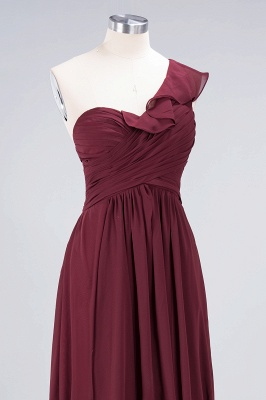 Sexy A-line Flowy One-Shoulder Sweetheart Sleeveless Floor-Length Bridesmaid Dress UK UK with Ruffles_5